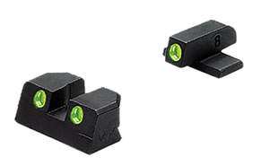 Meprolight 11411 Tru-Dot Fixed Sights, Springfield XD 45 ACP, Grn/Grn