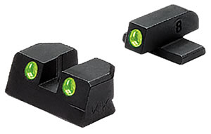 Meprolight 11420 Tru-Dot Fixed Sights, Springfield XDM 45 ACP, Grn/Grn