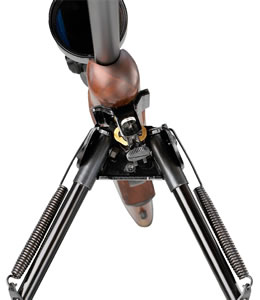 Shooters Ridge 40855 Pivot Bipod Black Adjustable 6 in-9 in