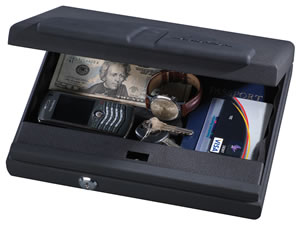 Stack-On PC650B, Portable Personal Security Safe, Biometric, Black Matte Finish