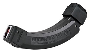 Ruger 90398 Ruger 10/22 BX-25 X2 22 Long Rifle 25 rd x 2 Magazine, Black Finish