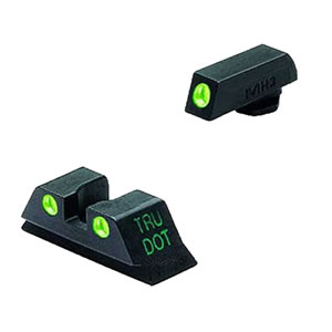 Meprolight 10224 Green Front/Rear Tru-Dot Fixed Sight For Glock 9MM/40 Caliber