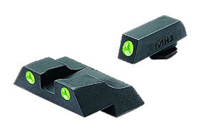 Meprolight 10226 Green Front/Rear Tru-Dot Fixed Sight For Glock 26/27
