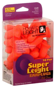 Howard Leight R01891 Super Leight Earplugs USA Shooters Earplugs