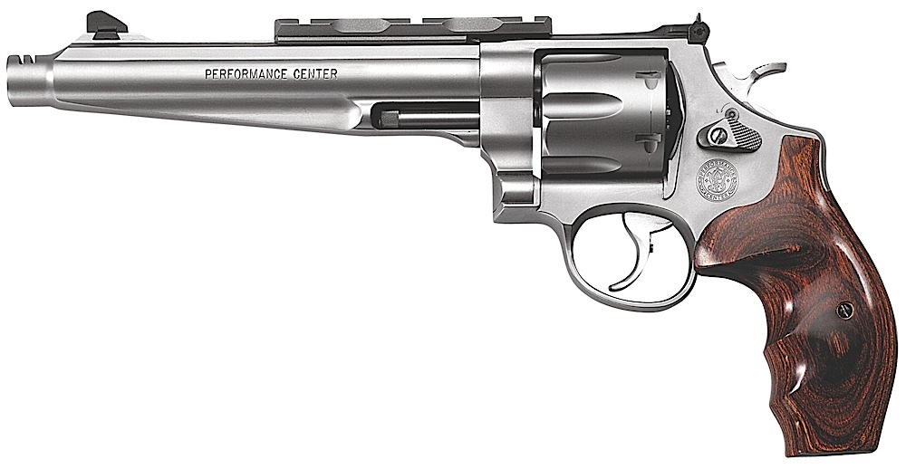 Smith & Wesson Model 629 Performance Center Revolver 170181, 44 Rem Mag, 7  1/2 in BBL, Sngl / Dbl, Wood Grips, Mt Stainless Finish, 6 Rds