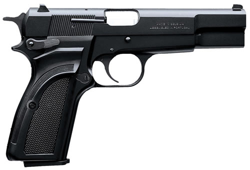 Browning Hi Power Mark III Pistol 051002393, 9mm, 4 5/8 in in BBL, Single, Composite Grips, Black Finish, 12 + 1 Rds, Fixed Sights