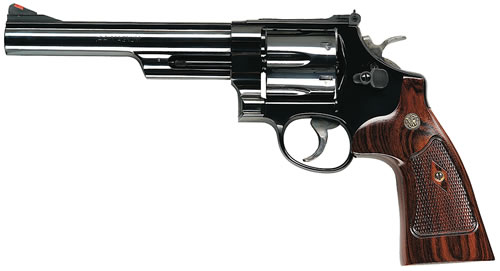 Smith & Wesson Model 29 Classic Revolver 150145, 44 Remington Mag, 6 1/2 in BBL, Sngl / Dbl, Altamont Wood Grips, Blue Finish, 6 Rds