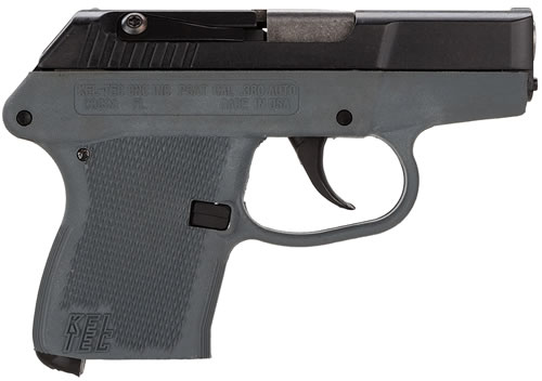 Kel-Tec Model P-32 Pistol P32GY, 32 ACP, 2.68 in BBL, Dbl Actn Only, Polymer Grips, Fixed Sights, Blue Steel Finish, 7 + 1 Rds