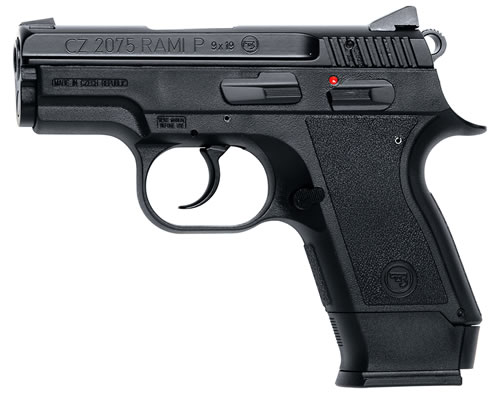 CZ-USA 2075 Rami B Semi-Auto Pistol 91750, 9mm, 3 in, Sngl / Dbl, Matte Blue / Black Rubber, 10/14 Rd, Safety, 2 Mags