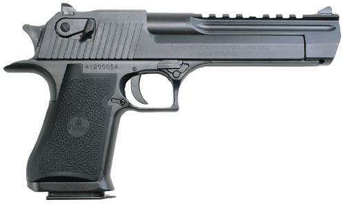 "Magnum Research Desert Eagle Mark XIX Pistol DE50W, 50 AE, 6"" Barrel, Semi-Auto, Single Action, Formed Grips, Black Oxide Finish, 7 + 1 Rd, Made by IWI"