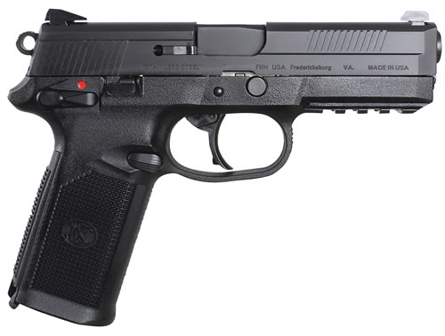 FN Herstal FNX-45 USG Pistol 66960, 45 ACP, 4 in, Poly Grip, Black Finish, 15 + 1 Rd