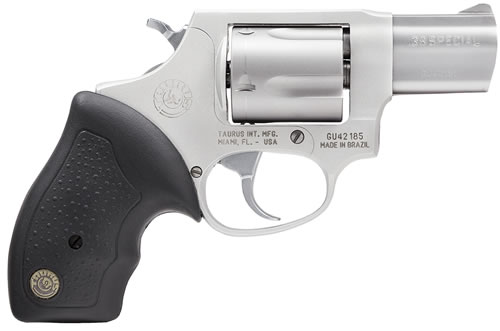 Taurus Model 85FS Ultra-Lite Revolver 2850029ULFS, 38 Special + P, 2 in BBL, Rubber Grip, Stainless Finish, 5 Rds