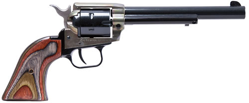 Heritage Rough Rider Rimfire Revolver RR22MCH4, 22 LR / 22 WMR, 4 3/4 in BBL, Sngl Actn Only, Wood Grips, Fixed Fnt, Notch Rear Sights, Case Hd Blue Finish, 6 Rds