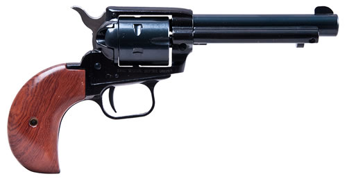 Heritage Rough Rider Rimfire Revolver RR22MB4BH, 22 LR / 22 WMR, 4 3/4 in BBL, Sngl Actn Only, Bird Head Grips, Fixed Fnt, Notch Rear Sights, Blue Finish, 6 Rds