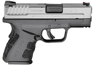Springfield XD MOD.2 Sub-Compact Pistol XDG9845SHCSP,  45 ACP, 3.3 in BBL, Dbl Act Only, Poly Grips, Bi-Tone Finish, 9 Rds