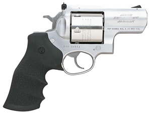 Ruger Super Redhawk Model KSRH2454 Alaskan Revolver 5301, 454 Casull, 2 1/2 in BBL, Sngl / Dbl, Hogue Tamer MonoGrips, Satin Stainless Finish, 6 Rds