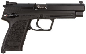 HK USP 9 V1 Expert Pistol 709080A5, 9mm, 5.2 in, Semi-Auto, DA/SA, Modular Synthetic Grip, Blued Finish, Adj Sights, 10+1