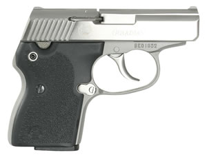 NAA Guardian Pistol 380GUARdS, 380 ACP, 2 1/2 in BBL, Dbl Actn Only, Blk Rubber Grips, Fixed Sights, Stainless Finish, 6 + 1 Rds