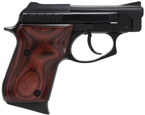 Taurus Model PT-22 Small Frame Pistol 1220031R, 22 Long Rifle, 2 3/4 in BBL, Dbl Actn Only, Rosewood Grips, Fixed Sights, Blue Finish, 8 + 1 Rds
