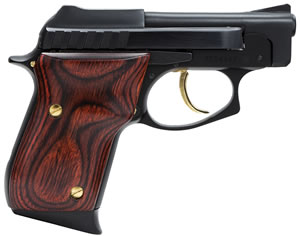 Taurus Model PT-22 Small Frame Pistol 1220031G, 22 Long Rifle, 2 3/4 in BBL, Dbl Actn Only, Rosewood Grips, Fixed Sights, Blue Finish, 8 + 1 Rds