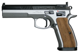 CZ Model 75 Tactical Sport TS Pistol 91171, 40 S&W, 5.4 in BBL, Sngl / Dbl, Walnut Grips, Fixed Sights, Dual-Tone Finish, 16 + 1 Rds