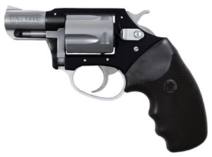 Charter Arms Undercover Lite Revolver 53870, 38 Special + P, 2 in BBL, Sngl / Dbl, Blk Rubber Grips, Fixed Sights, Blk/SS Finish, 5 Rds