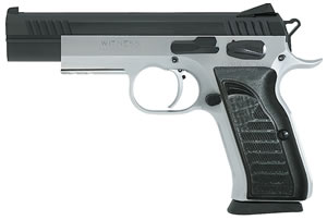 EAA Witness Match Pistol 600650, 10 MM, 4 3/4 in BBL, Sngl Actn Only, Polymer Grips, Adj Sights, Two Tone Finish, 15 + 1 Rds