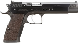 EAA Witness Hunter Pistol 600257, 45 ACP, 6  in BBL, Sngl Actn Only, Wood Grips, Fully Adj Rear Sights, Blk Finish, 10 + 1 Rds