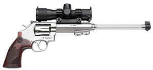 Smith & Wesson Model 647 Varminter Pistol 170229, 17 HMR, 12 in, Wood Grip, Satin Stainless Finish, 6 Rd