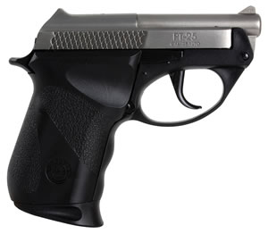 Taurus Model PT-25 Pistol 1250039PLY, 25 ACP, 2.33 in, Polymer Grip, Stainless Finish, 9 + 1 Rd, Dbl Act Only