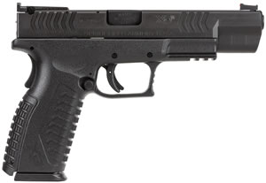 Springfield XDM Competition Series Pistol XDM95259BHC, 9 mm, 5.25 in, Polymer Backstrap Grip, Black Finish, 19 + 1 Rd