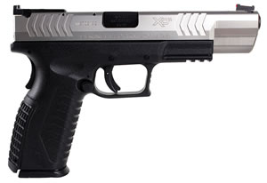 Springfield XDM Competition Series Pistol XDM95259SHC, 9 mm, 5.25 in, Polymer Backstrap Grip, BiTone Finish, 19 + 1 Rd