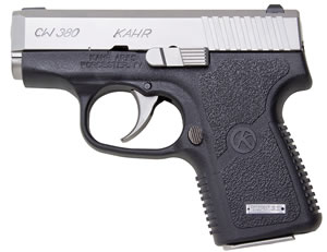 Kahr Model CW380 Pistol CW3833, 380 ACP, 2.58 in, Polymer Grip, Black/Stainless Slide Finish, 6+1