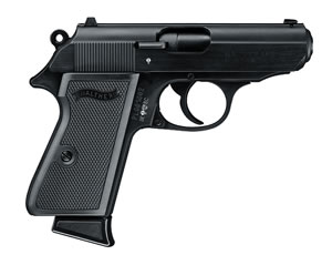 Walther PPK/S Pistol 5030300, 22 Long Rifle, 3.35 in, Black Finish, 7+1 Rd
