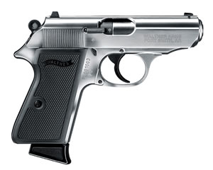 Walther PPK/S Pistol 5030320, 22 Long Rifle, 3.35 in, Nickel Finish, 10+1 Rd