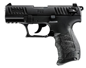 Walther P22 Pistol  5120300, 22 Long Rifle, 3.42 in, Walther Grip, Black Finish, 10+1 Rd