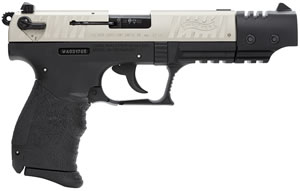 Walther P22T Target Pistol  5120326, 22 Long Rifle, 5 in, Walther Grip, Nickel Finish, 10+1 Rd