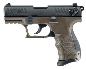 Walther P22M Military Pistol 5120315, 22 Long Rifle, 3.42 in, Walther Grip, Military Finish, 10+1 Rd