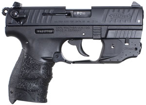 Walther P22L Pistol  5120329, 22 Long Rifle, 3.42 in, Walther Grip,  Finish, 10+1 Rd, Laser