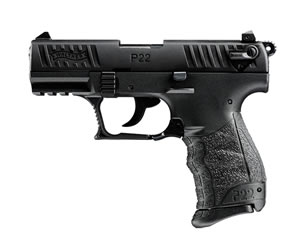 Walther P22CA Pistol  5120333, 22 Long Rifle, 3.42 in, Walther Grip, Black Finish, 10+1 Rd, CA Approved
