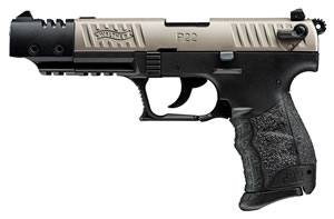 Walther P22CA Pistol  5120336, 22 Long Rifle, 3.42 in, Walther Grip, Nickel Finish, 10+1 Rd, CA Approved