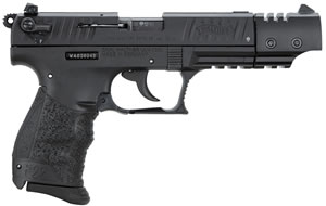 Walther P22TCA Target Pistol  5120334, 22 Long Rifle, 5 in, Walther Grip, Black Finish, 10+1 Rd, CA Approved