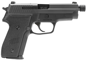 Sig Sauer Model M11 Pistol M11A1TB, 9mm, 4.4 in, Black Grip, Black Hard Coat Anodized Finish, 15+1