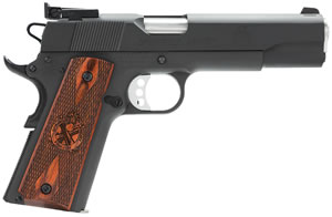 Springfield Range Officer Pistol PI9129LP, 9mm, 5 in, Cocobolo Wood Grip, Black Finish, 9+1