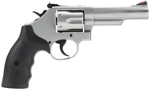 "Smith & Wesson Model 66 K-Frame Revolver 162662, 357 Mag, 4.25"" BBL, SA/DA, Syn Grips, Stainless Finish, 6 Rd"