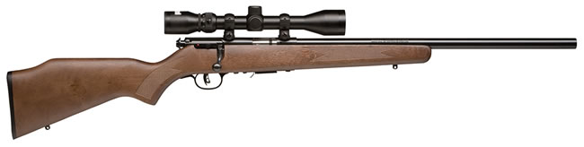 Savage Model 93R17GVXP Rimfire Rifle 96222, 17 HMR, Bolt Action, 20.75 in, Walnut Stock, Blue Finish, 5 + 1 Rd, w/Scope