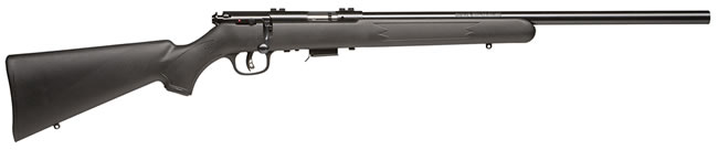 Savage Model 93R17FV Rimfire Rifle 96700, 17 HMR, Bolt Action, 21 in Heavy, Black Syn Stock, Blue Finish, 5 + 1 Rd