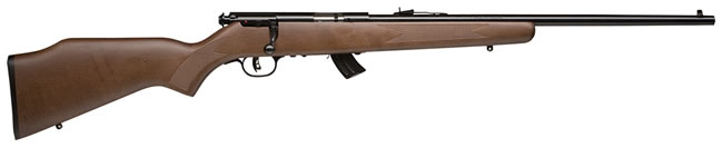 Savage Model MKIIG Rimfire Rifle 20700, 22 Long Rifle, Bolt Action, 20.75 in, Walnut Stock, Blue Finish, 10 + 1 Rd