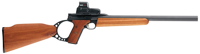 Browning Buck Mark Target Rifle 021025202, 22 Long Rifle, Semi-Auto, 18 in BBL, Wood Stock, Blue Satin Finish, 10 + 1 Rd
