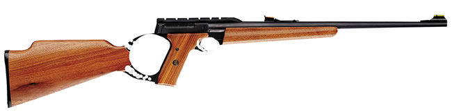Browning Buck Mark Sporter Rifle 021026102, 22 Long Rifle, Semi-Auto, 18 in BBL, Wood Stock, Blue Finish, 10 + 1 Rd